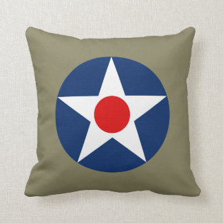 US Army Air Service - US Army Air Forces Roundel P Throw Pillow