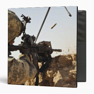 US Army soldier engages enemy forces 3 Ring Binders