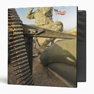 US Army soldier scouts for enemy activity 3 Ring Binder