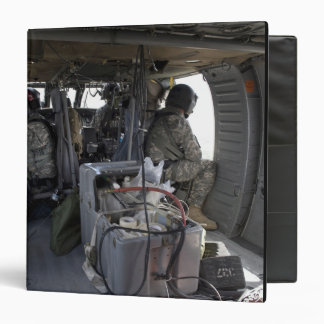 US Army soldiers watch for hazards 3 Ring Binder
