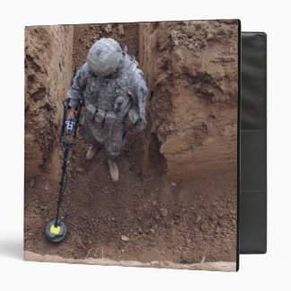 US Army Specialist searches for a weapons cache 3 Ring Binder