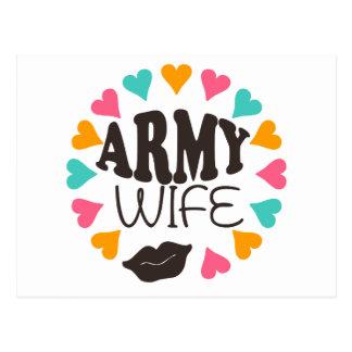US Army Wife Postcard