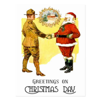 US Army WWI Christmas Postcard