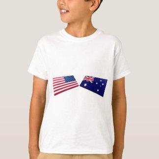 US & Australia Flags T-Shirt