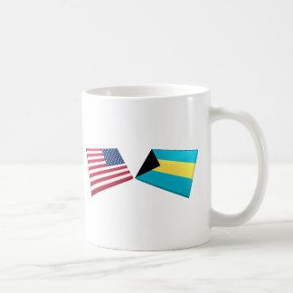 US & Bahamas Flags Coffee Mug