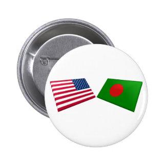 US & Bangladesh Flags Button