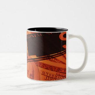 US banknotes, CG, composition Two-Tone Coffee Mug