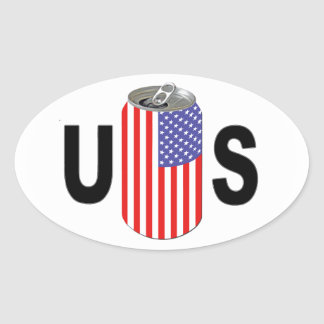 US Beer Oval Sticker