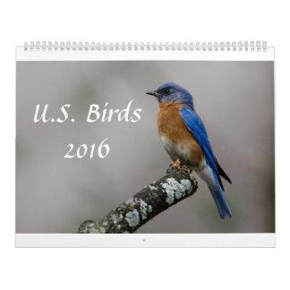 US Birds 2016 Calendar