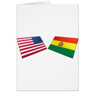 US Bolivia Flags Cards