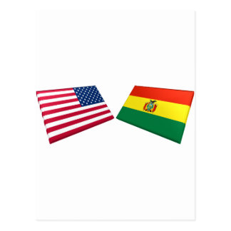 US Bolivia Flags Post Cards