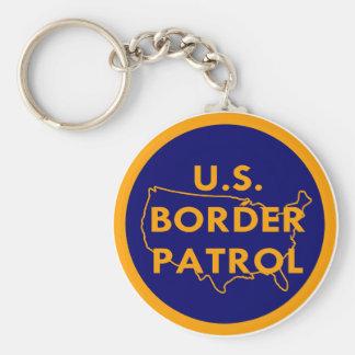 US Border Patrol  #2002 Basic Round Button Keychain