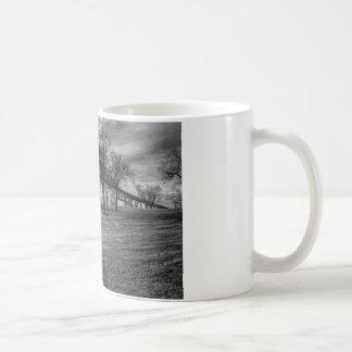 US, Bridge  on Port Arthur, TX. Black and White. Coffee Mug