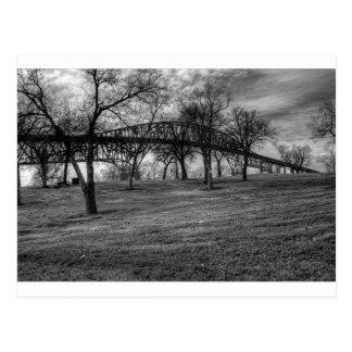US, Bridge  on Port Arthur, TX. Black and White. Postcard