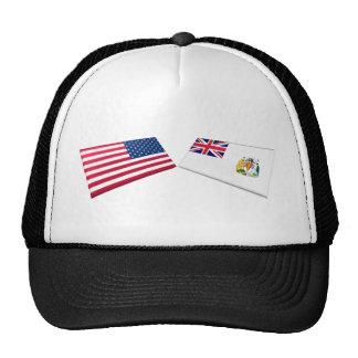 US & British Antarctic Territory Flags Mesh Hat