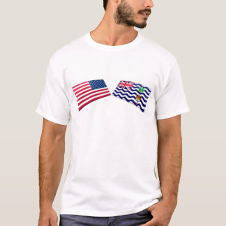 US & British Indian Ocean Territory Flags T-Shirt