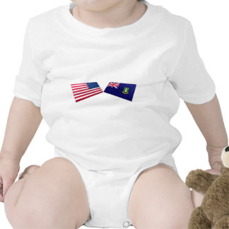 US & British Virgin Islands Flags T-shirts