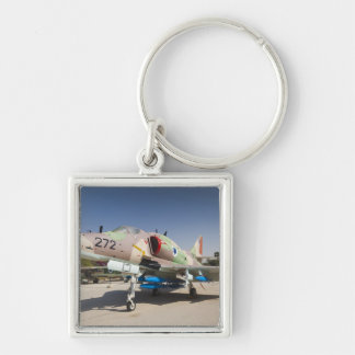 US-built A-4 Skyhawk fighter Silver-Colored Square Keychain