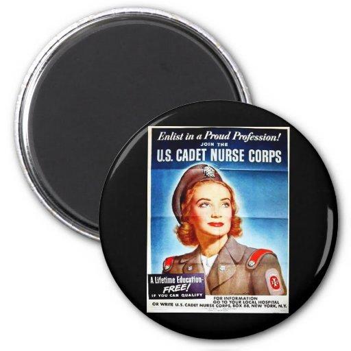 Us Cadet Nurse Corps Fridge Magnet