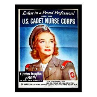 Us Cadet Nurse Corps Postcard