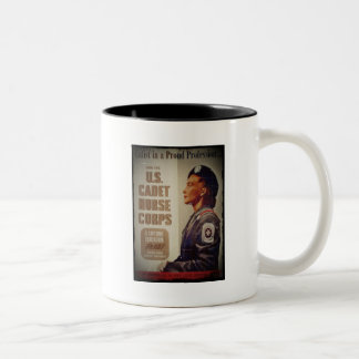US Cadet Nurse in Baret Two-Tone Coffee Mug
