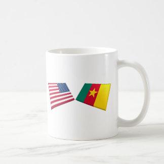 US & Cameroon Flags Coffee Mugs