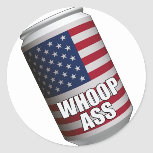 US Can of Whoop Ass T-Shirts Stickers