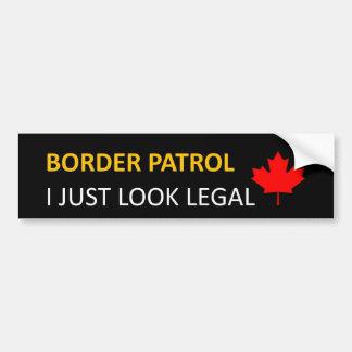US / Canada Border Patrol Bumper Sticker