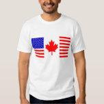 US/Canada Flag Tee Shirt