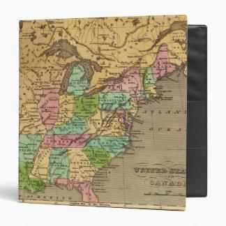 US, Canada Hand Colored Atlas Map Binders