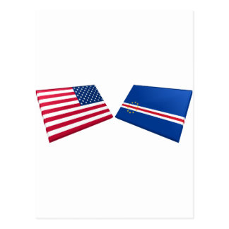US & Cape Verde Islands Flags Post Card