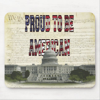 US Capital Building Proud To Be American Mouse Pad
