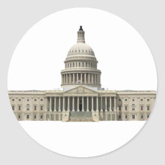 US Capital Building: Washington DC Classic Round Sticker