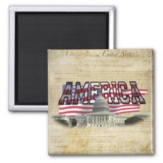 US Capital US Flag Magnet