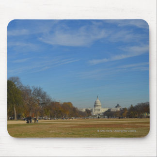 US Capitol across the Mall in Fall Mouse Pad