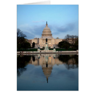 US Capitol and Reflecting Pool Notecard Stationery Note Card