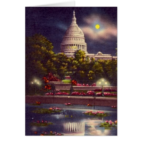 US Capitol at Night, Washington DC Card