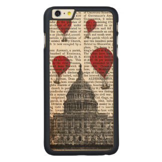 US Capitol Building and Red Hot Air Balloons Carved® Maple iPhone 6 Plus Slim Case