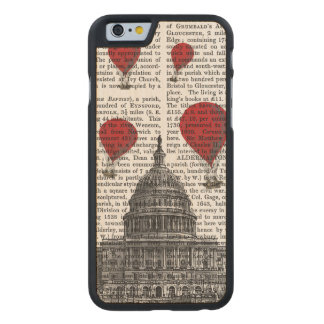 US Capitol Building and Red Hot Air Balloons Carved® Maple iPhone 6 Slim Case