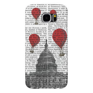 US Capitol Building and Red Hot Air Balloons Samsung Galaxy S6 Case