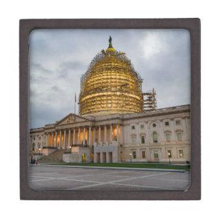 US Capitol Building at Dusk Keepsake Box