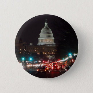 US Capitol Building at night Button