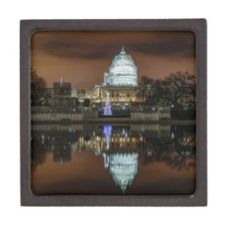 US Capitol Building at Night Jewelry Box