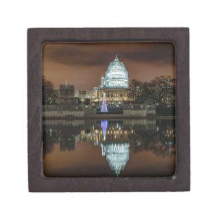 US Capitol Building at Night Keepsake Box
