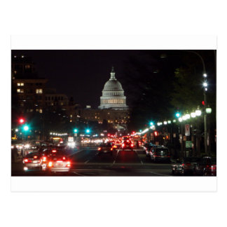US Capitol Building at night Post Card