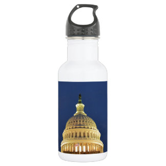 US Capitol Building at Night Water Bottle