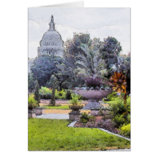US Capitol Building From Garden Card