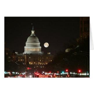 US Capitol Building Full Moon Card