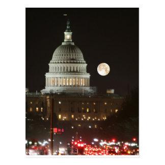 US Capitol Building Full Moon Postcard