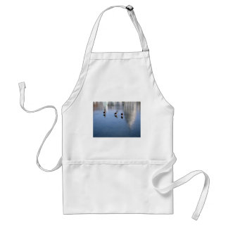 US Capitol Building in Winter photo Adult Apron